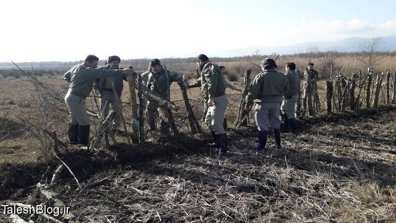 بیش از ۲۵ هزار مترمربع از اراضی تالاب جوکندان رفع تصرف شد