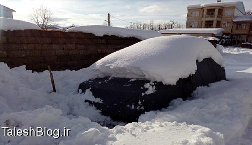 بازهم برف در گیلان دردسر ساز شد