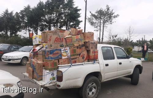 توزیع بسته غذایی در ماسال و شاندرمن